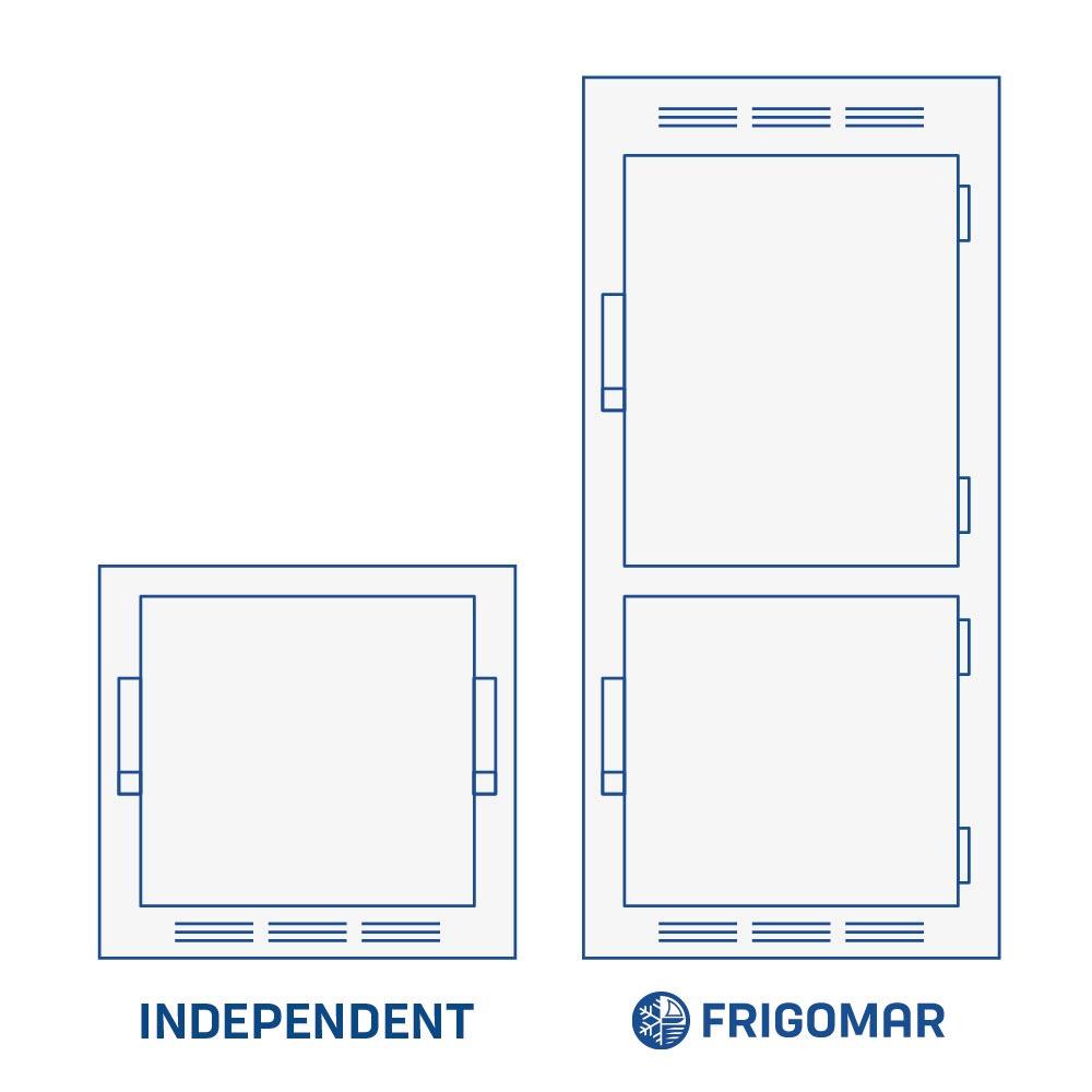 impianto refrigerazione frigorifero indipendente
