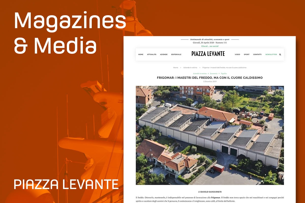 Frigomar article in Piazza Levante